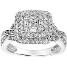 sterling silver engagement rings walmart keepsake 1 2 carat t w certified sterling silver