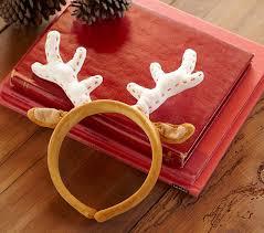 reindeer antlers headband reindeer antler headband pottery barn kids