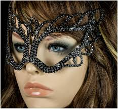 halloween crystal ball with head naomi black passion masquerade mask crystal u2013 beloved sparkles
