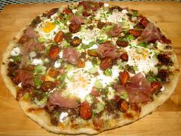 haute heirloom revamped meat lover u0027s breakfast pizza with
