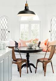 Breakfast Table Ideas Breakfast Nook Design With Black Table And Brown