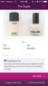 superduper nail polish app picks drugstore dupes of high end color
