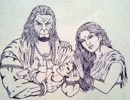 best hd images painting and sketches parents of hanumanji kesari