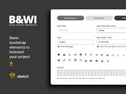 bootstrap gui and web design ui kit free resources for sketch