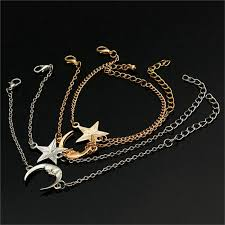 star chain bracelet images Buy 1 pair couple friends moon star chain bracelets gold silver jpg