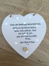 shabby personalised gift chic aunty auntie great aunt hanging