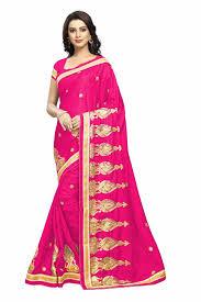 rani pink colour buy apparels rani colour designer crape party wear saree
