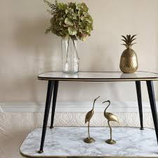 Vintage Coffee Tables by Small Marble Effect Vintage Coffee Table 1950s Petite Table