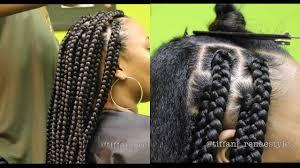 how many pack hair for box braids how to jumbo box braids youtube