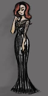 gothic fashion illustrations character designs on behance