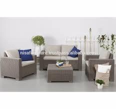 bali rattan resin wicker material indoor outdoor furniure sofa set