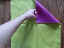 pliage de serviette en papier 2 couleurs feuille nice pliage de serviette fleur de lotus 2 couleurs 6 les deux