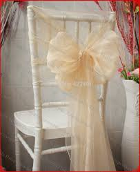 Champagne Chair Sashes Aliexpress Com Buy No 72 Champagne Color Organza Chair Hoods