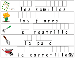 spanish for kids woksheets