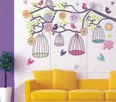 girls wall stickers for bedrooms moncler factory outlets com cute tree birds and cages wall sticker girl bedroom bedroom wall stickers decorate the bedroom