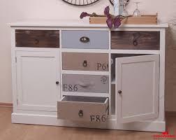 Wohnzimmer Vintage Sideboard Anrichte Vintage Look Creme Weiß 128cm Neu Sideboards