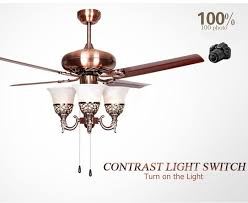 48 ceiling fan with light 2018 wholesale 48 inch ceiling fan light with red electroplating
