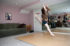 examples of home dance studio portable sprung floors