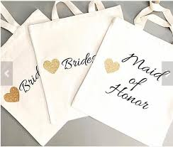 bachelorette gift bags custom 6pcs glitter bridesmaid tote bags personalized names