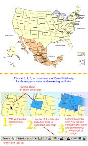 map of mexico with states usa and mexico powerpoint map editable states maps for design
