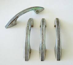 chrome and brass cabinet pulls vintage cabinet hardware retro chrome kitchen cabinet hardware s