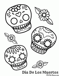 11 pics of easy skull coloring pages easy to draw sugar skull
