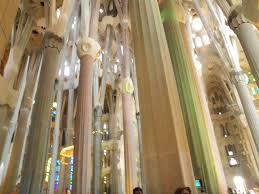 interior design cozy sagrada familia interior columns glorious
