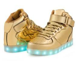 light up shoes gold high top kid shoes 2free