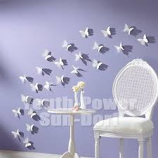 20pcs 5x5cm 3D Acrylic Wall Sticker Butterfly Home Room Decor
