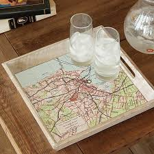 personalized serving dish custom map serving tray decorative trays map uncommongoods