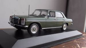 green mercedes benz mercedes benz 200d 200 d 1973 dark green 1 43 maxichamps 940034001