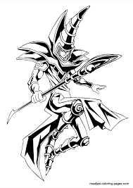 9 images of coloring pages yugi oh dark magician of chaos yugi