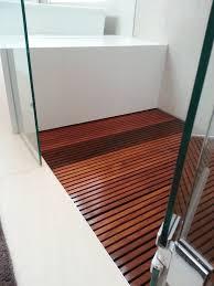Wood Shower Mat Teak Shower Floor Insert With Modern Wooden Shower Stall Floor