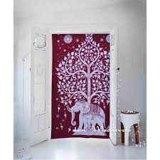 Elephant Bedding Twin Tree Of Life Elephant Tapestry Maroon Color