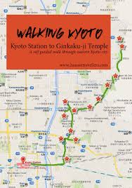 Map A Walking Route by Walking Kyoto A Guide To Exploring Eastern Kyoto