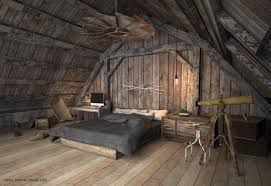 farmhouse bedroom idea mezzanine barn industrial rustic style