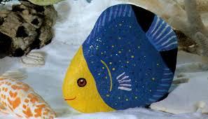 fish easy rock painting animals designs ideas