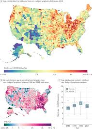 Map Of South Dakota Counties Disparities In Cancer Mortality Among Us Counties 1980 2014