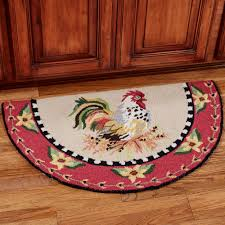 Rooster Rugs For The Kitchen Sitting Pretty Rooster Hooked Slice Rug