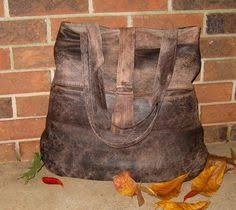 Upcycled Leather Bags - recycled leather tote bag chestnut brown soft leather tote