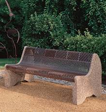Personalized Park Bench Crescent Park Benches Concrete Park Benches Belson Outdoors