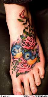 feather on foot tattoo 55 beautiful rose tattoos on foot