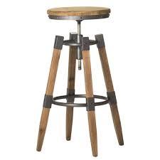 extraordinary aurelle home industrial wood and iron adjustable bar