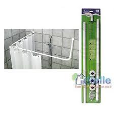 supporto tenda doccia bastone tubo per tenda doccia vasca 3 lati alluminio bianco cm