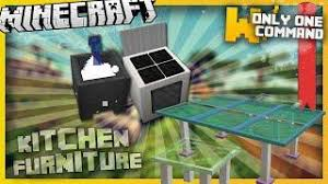 minecraft kitchen furniture minecraft modern kitchen furniture with only two command blocks
