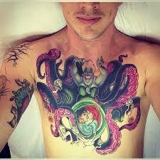 disney little mermaid tattoo on arm for men photo 3 real photo