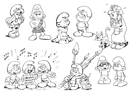 schtroumpfs 190 cartoons u2013 printable coloring pages