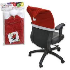santa hat chair covers 40 pack polyester christmas santa hat chair cover with bell