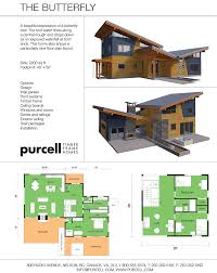 purcell timber frame homes the butterfly prefabricated home
