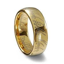 lord of the rings wedding band lord of the rings gold plated tungsten one ring lord tungsten